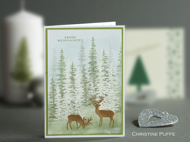 Weihnachtskarte, Christmas Card, Stampin up, Wonderland