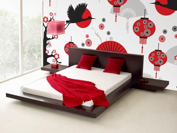 Designed Mural Wallpapers in the Bedroom
