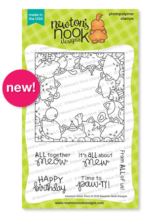 Newton's Block Party | Cat Birthday Stamp Set by Newton's Nook Designs #newtonsnook