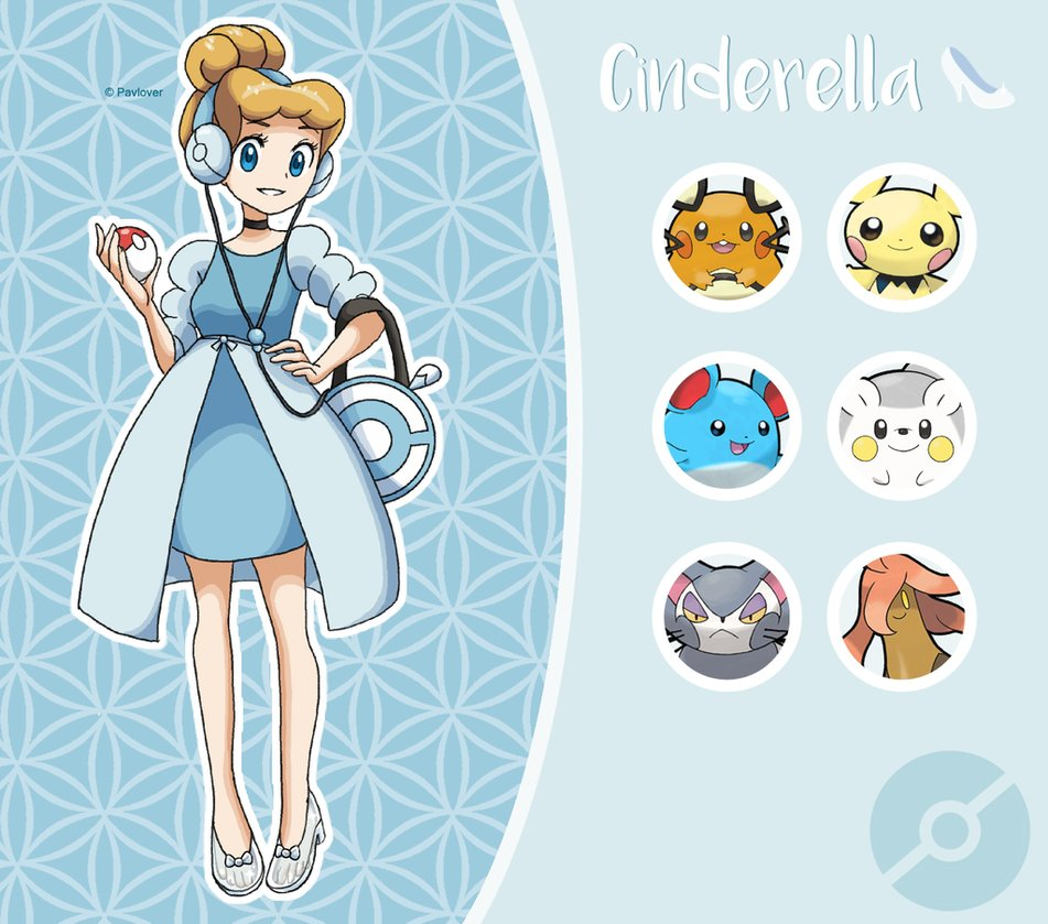 princesas de disney con sus pokemon