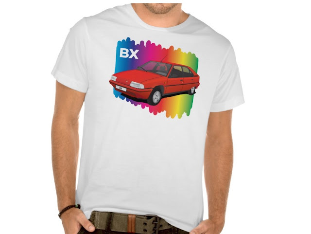 Citroën BX rainbow spectrum t-shirts