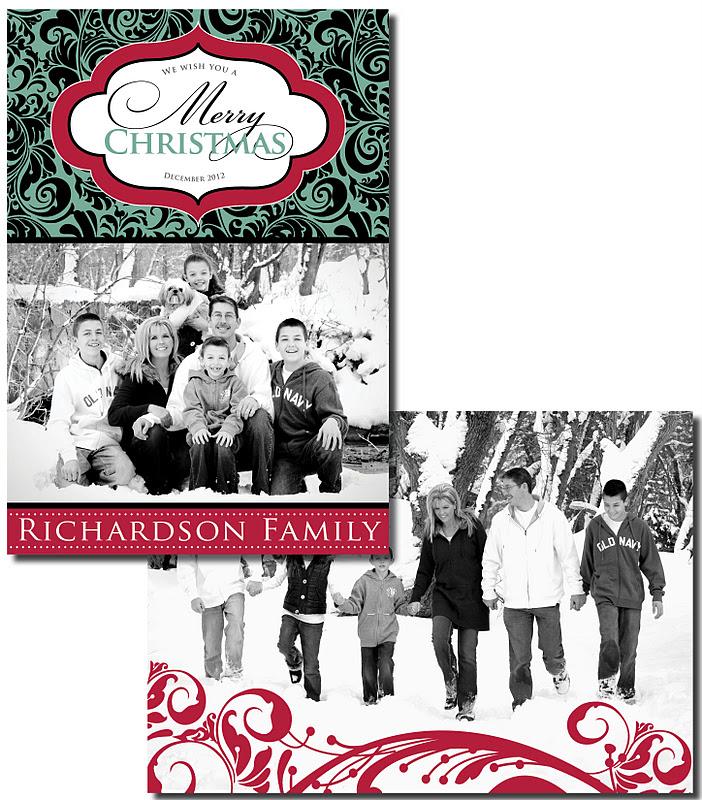 Wedding Invitation Blog Double Sided Photo Christmas Cards