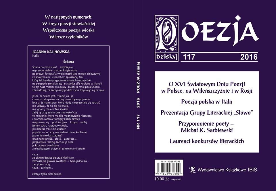 Zbigniew Michalski - blog literacki: POEZJA dzisiaj Nr 117