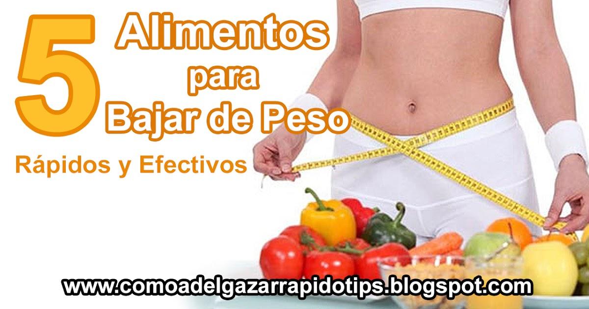 Metodos para bajar de peso efectivos