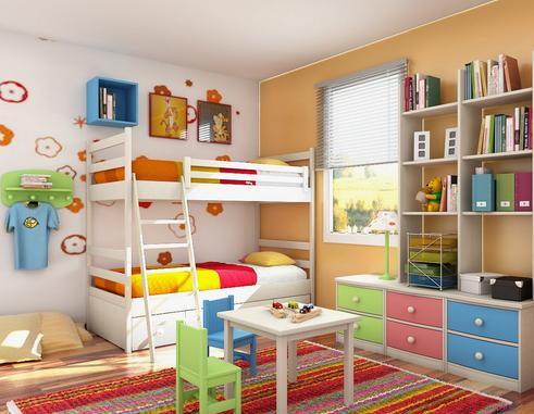 desain tempat tidur susun untuk anak
