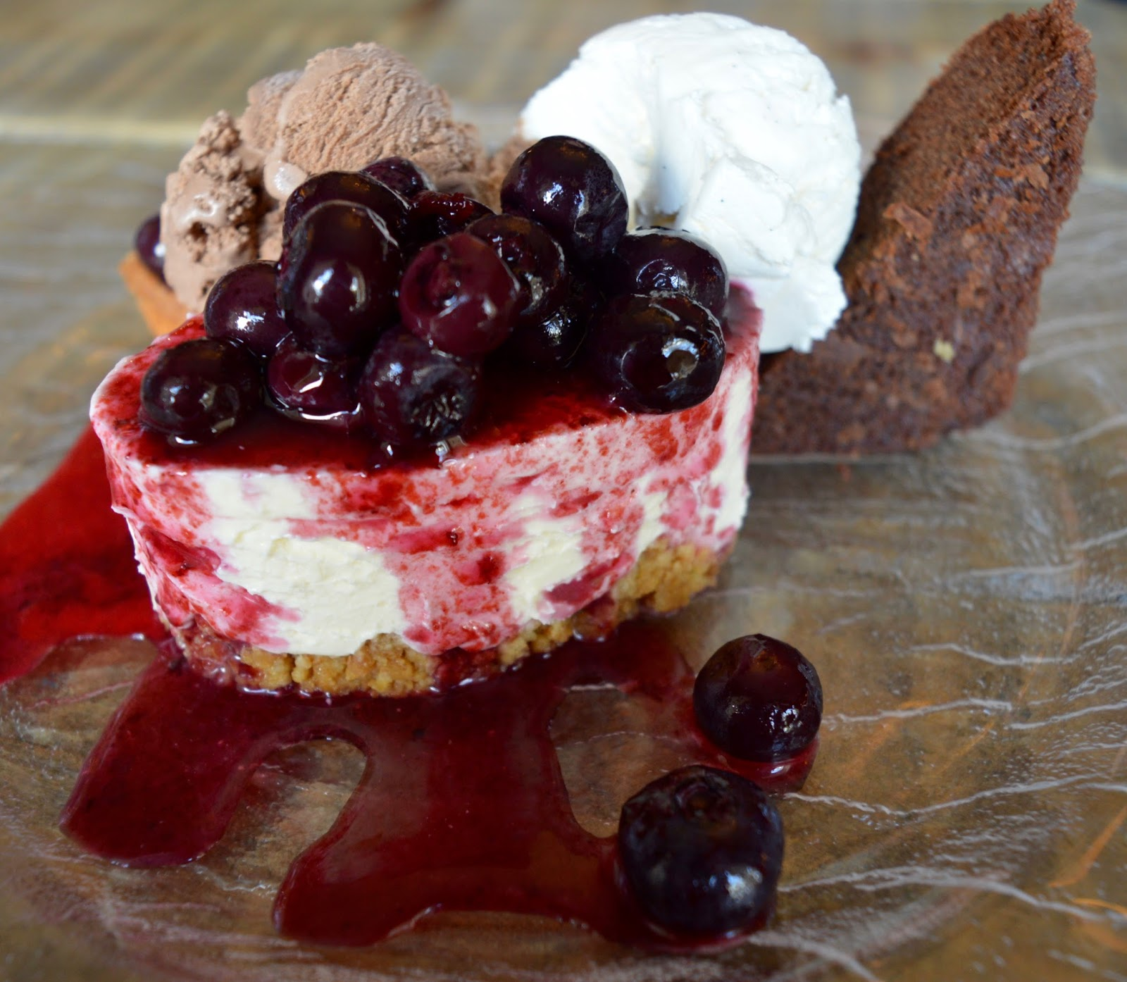The Northumberland Arms, Felton - homemade cheesecake