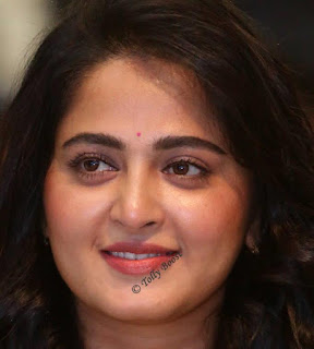 Hyderabadi Actress Anushka Shetty Oily Face Closeup Pictures (1)