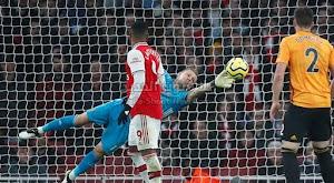 وولفرهامبتون يفرض التعادل الاجابي على فريق آرسنال بهدف لمثله في الدوري الانجليزي