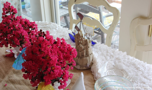 Sand and Ocean Tablescape-Bargain Decorating with Laurie