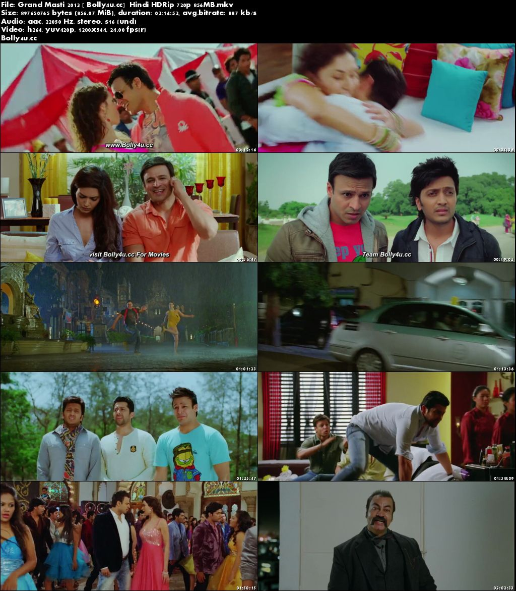 Grand Masti 2013 HDRip 850MB Full Hindi Movie Download 720p