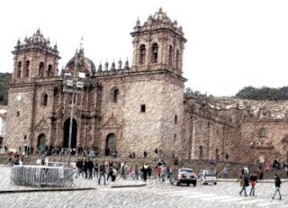 Catedral de Cusco Vista da Compañía de Jesús