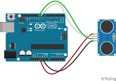 Conectare senzor HC-SR04 la Arduino