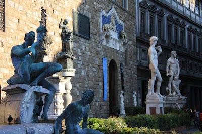 Sculptures in front of the Palazzo Vecchio in Piazza della Signoria