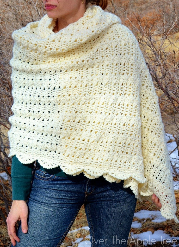 Over The Apple Tree: Crochet Shawl