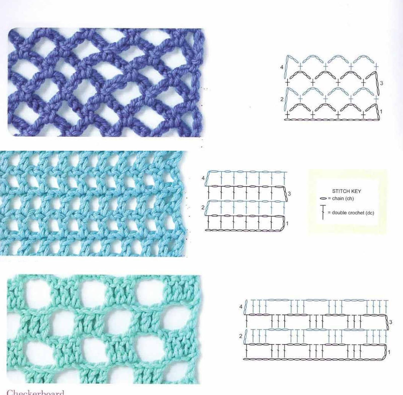 29 Magníficos Puntos Calados en Crochet
