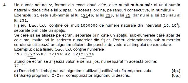 BAC 2014 iulie matematica informatica