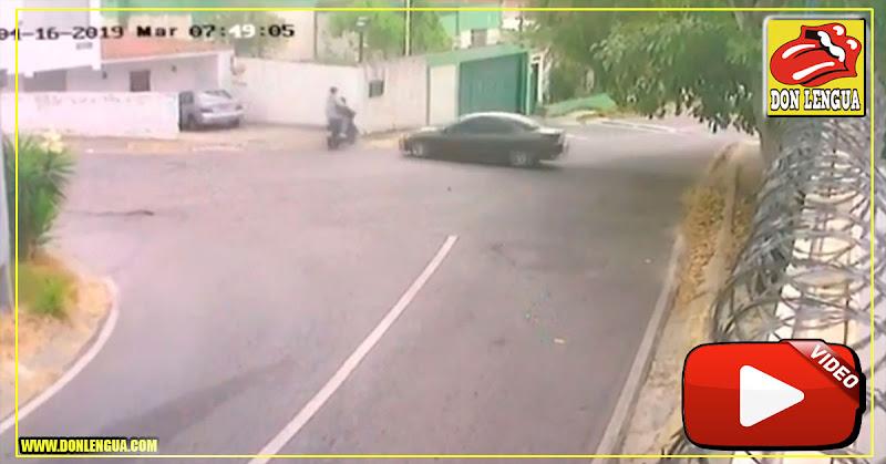 Delincuentes por poco son arrollados cuando perpetraban un asalto en La Trinidad