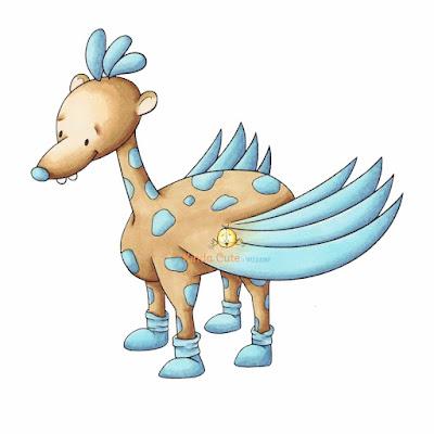 Pegasus-Giraffe Digital Stamp