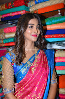 Puja Hegde looks stunning in Red saree at launch of Anutex shopping mall ~ Celebrities Galleries 075.JPG