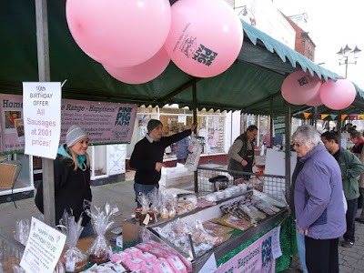 A November Brigg farmers' market in the town centre - picture on Nigel Fisher's Brigg Blog