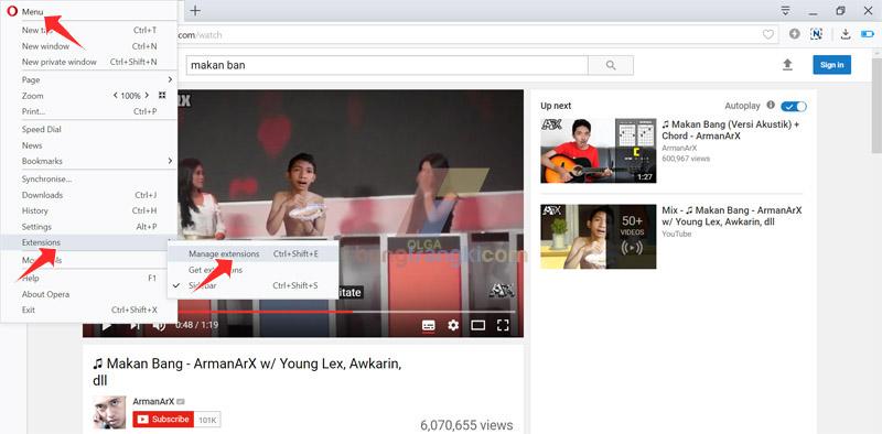 Cara Atasi tombol IDM tidak tampil di Youtube saat menggunakan browser Opera Mini
