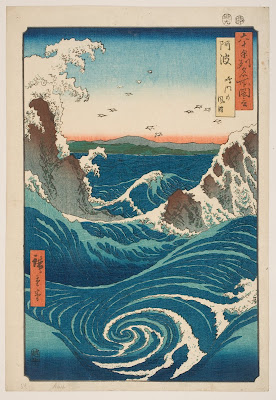 Utagawa Hiroshige, Awa Province: the Naruto Whirlpools, from Famous Views of the Sixty-odd Provinces