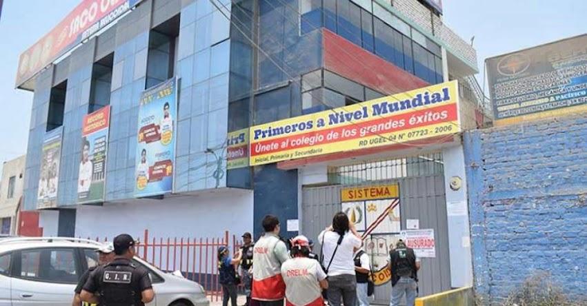 Autoridades clausuran colegios ilegales en Comas - UGEL 04