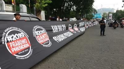 KPN-GP galang dana di Tugu Proklamasi Untuk Dukung Prabowo Jadi Presiden