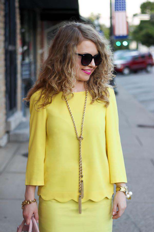 J. Crew Yellow Skirt, Ann Taylor