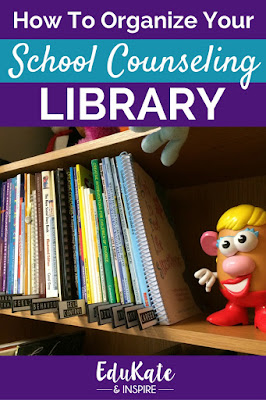 How to Organize Your School Counseling Library: Learn how to categorize your counseling books and download a free set of school counseling library labels!