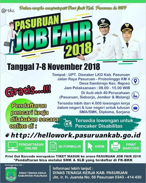 Job Fair Kabupaten Pasuruan Jawa Timur (GRATIS)