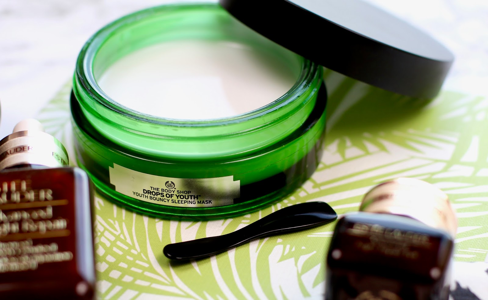 evening skincare routine the body shop drops of youth estee lauder advanced night repair