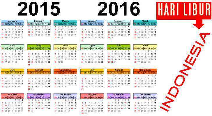 Daftar Hari Libur UMUM Nasional Indonesia