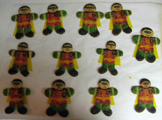 Robin Superhero Cookies