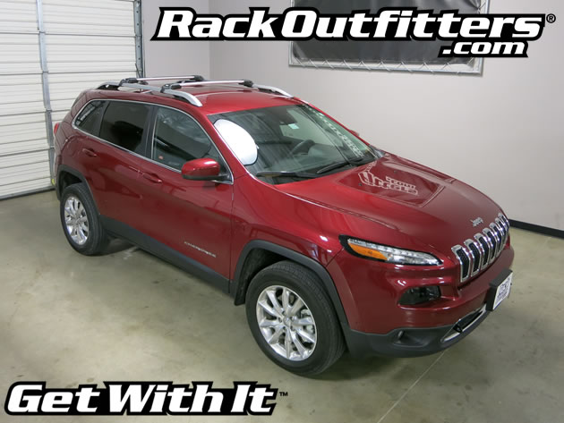 new jeep cherokee thule silver aeroblade edge base roof rack 39 14 39 15 rack outfitters. Black Bedroom Furniture Sets. Home Design Ideas