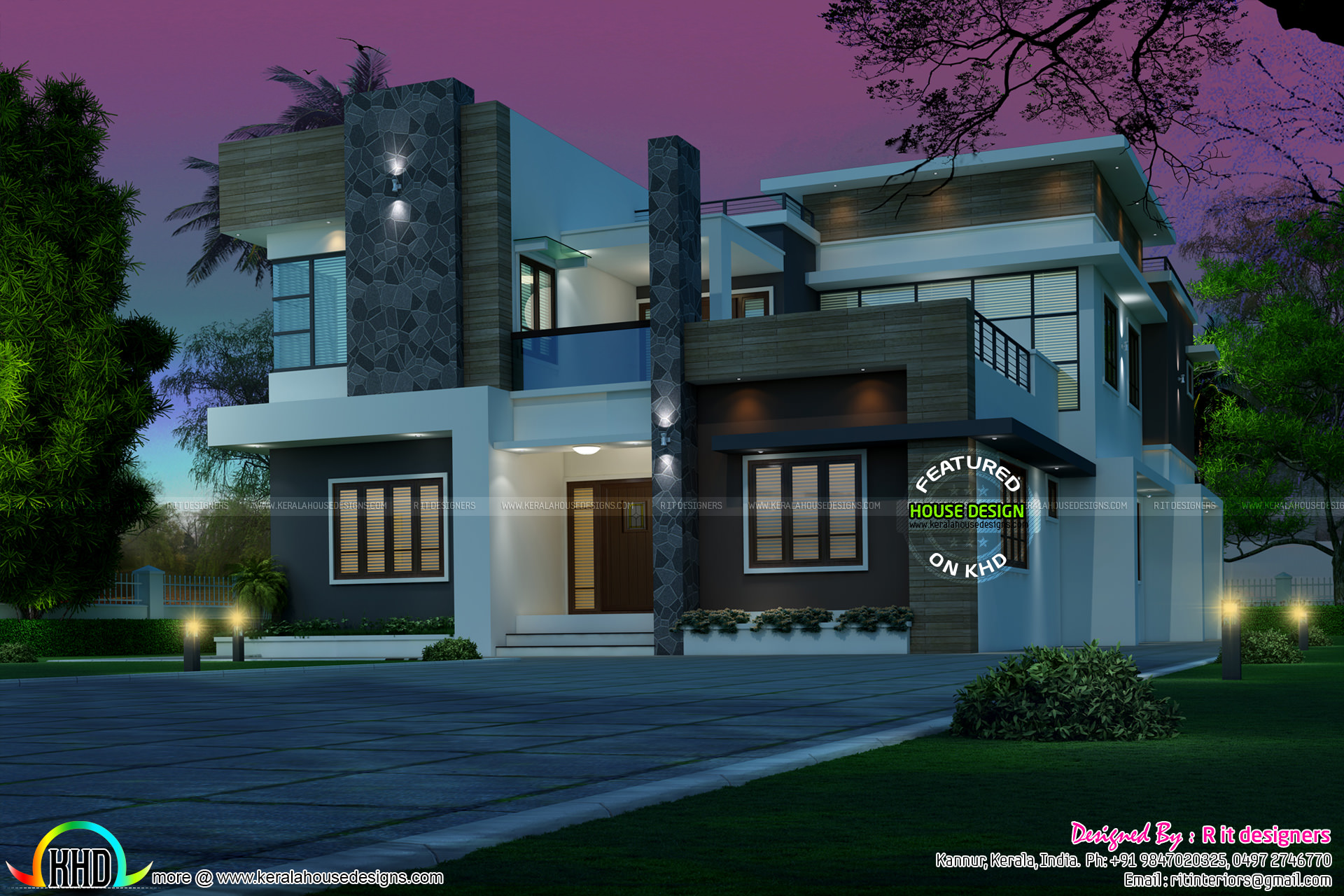 Rs.70 lakhs budget estimated modern house - Kerala home ...