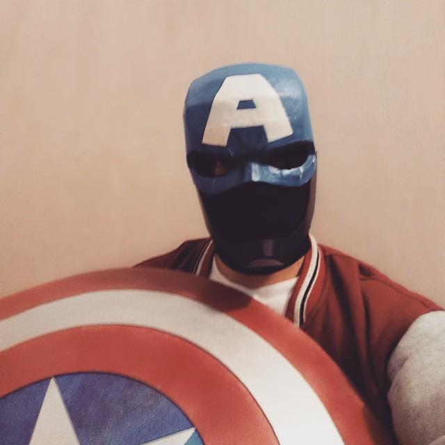 Dali lomo captain america costume helmet diy cardboard pepakura how to make captain america helmet maxwellsz