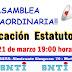 SNTI : ASAMBLEA EXTRAORDINARIA - MODIFICACIÓN ESTATUTOS - MIERCOLES 21 DE MARZO