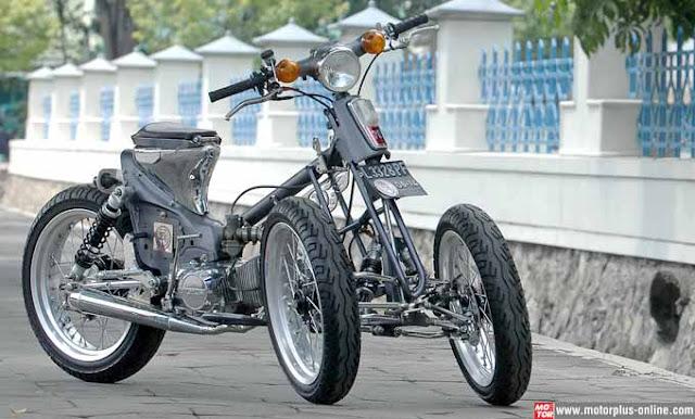 4# Modifikasi Motor Honda C 70 dengan Roda Tiga