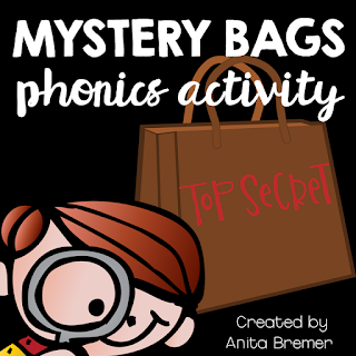 Mystery Bags- a fun phonics literacy activity to practice letter sounds in Kindergarten