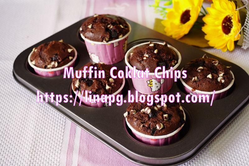 Cara Cara Buat Muffin Coklat Chip Naik Merekah Enaknya