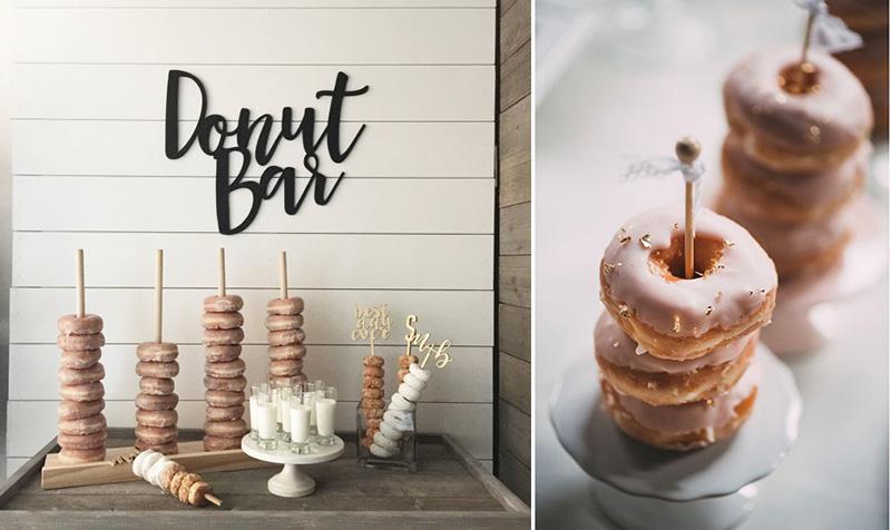 C mo incluir donuts en un candy bar decorar en familia for Mini candy bar de madera