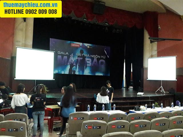 VNPC cho thuê máy chiếu tổ chức Gala Mật Mã Ngôn Từ 2016