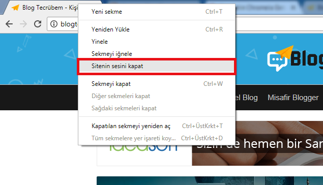 Google Chrome sessize alma