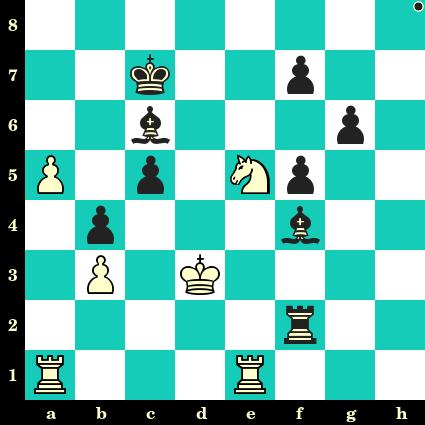 Les Noirs jouent et matent en 2 coups - Enrico Paoli vs Jan Foltys, Trencianske Teplice, 1949