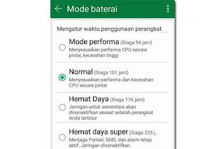 cara merubah mode hemat baterai hp android