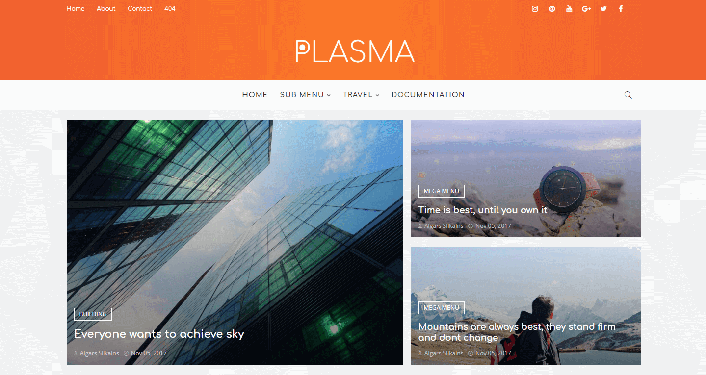 Plasma Blogger Template