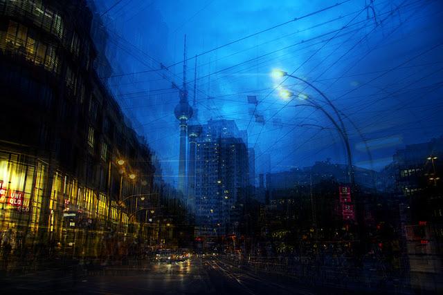 Esposizioni multiple di Berlino di notte. Di Alessio Trerotoli