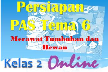 Download Persiapan Soal PAS Online Kelas 2 Tema 6  dan Kunci Jawaban