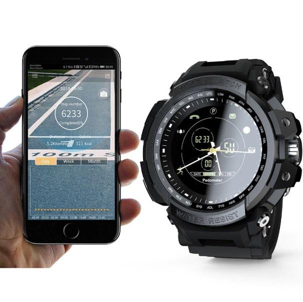 Digital Clock Zmart Clock foe Men Android iOS